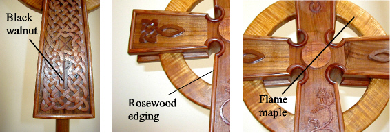 Woods used in making processional cross