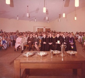 Dedication of West Plano Presbyterian Church building, 1978